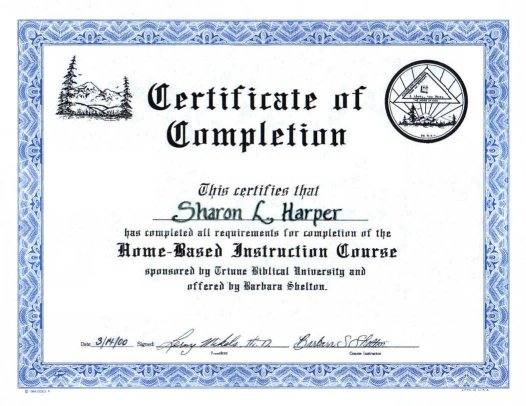 About Requirements & Certificate of Completion